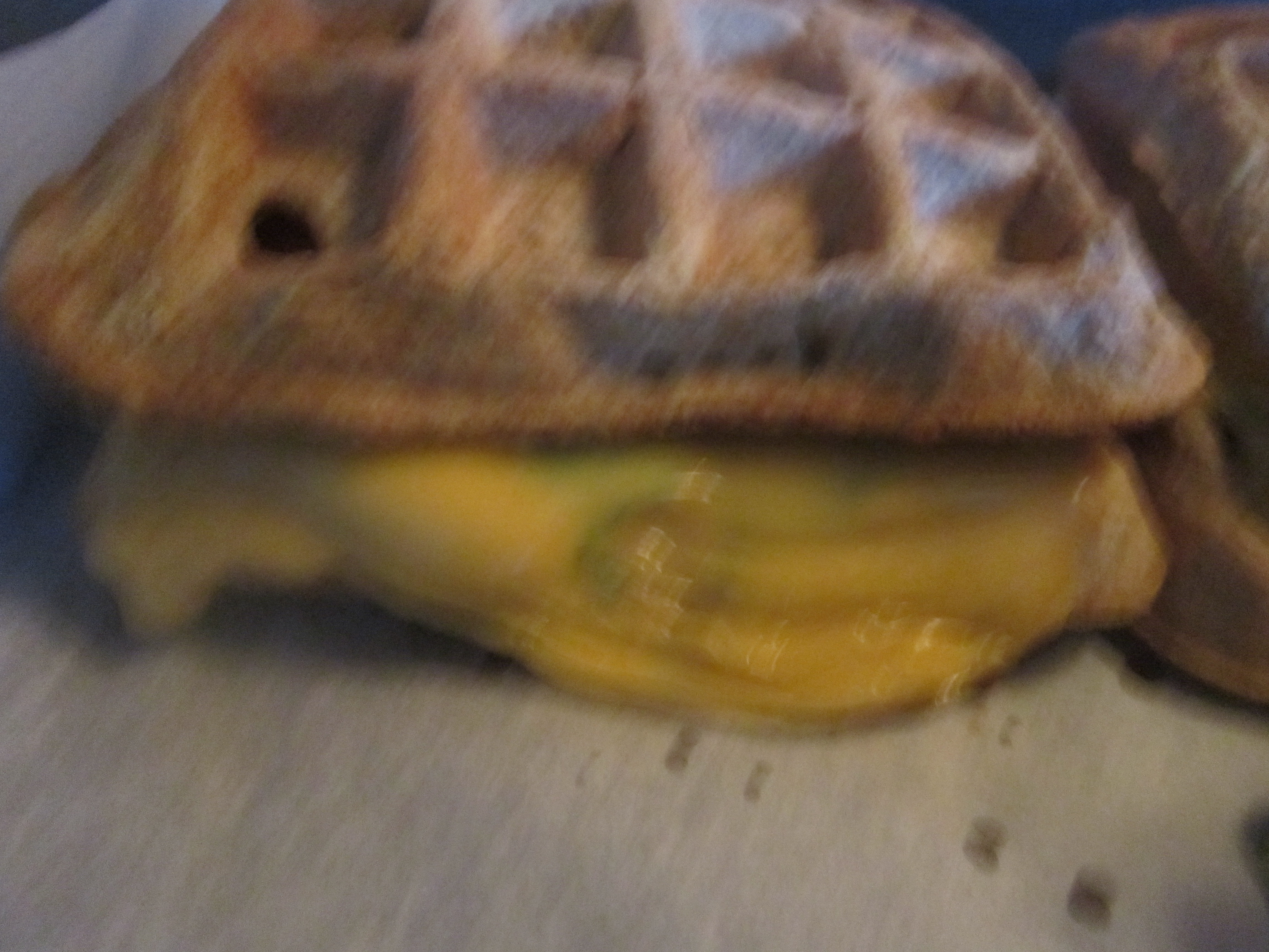 Grilled turkey cheese waffle sandwiches alternativeeating for Preheat oven for turkey